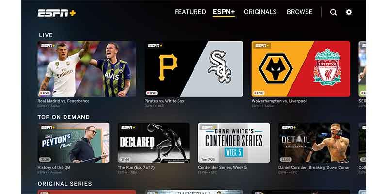 ESPN Plus App